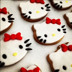 Galletas hello Kitty Rojo