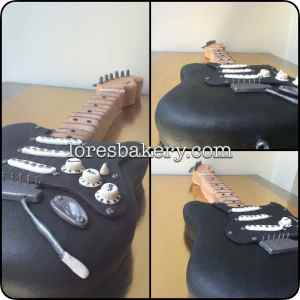 Tarta Fender Negra