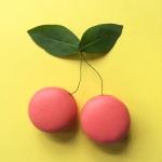 Macarons de cereza