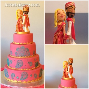 collage tarta boda hindú